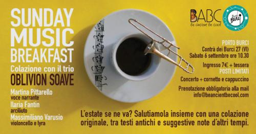 Sunday Music Breakfast @ Porto Burci, Vicenza